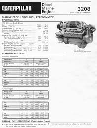 caterpillar 3208ta rblt marine engine