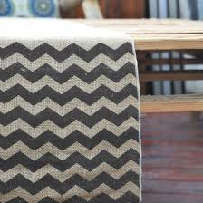 burlap table runners wholesale vintage burlap wedding table runner w black chevron pattern 12 x