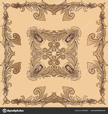 vintage baroque frame ornament border floral retro pattern antique