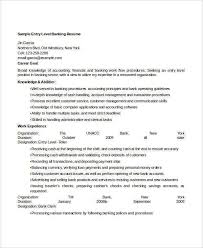 Sample Resume Format For Banking Sector Entry Level Banking Resume Sample Resume For Entry Level Bank