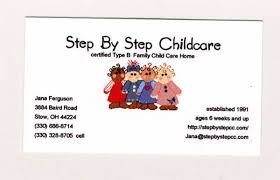 childcare business cards business card