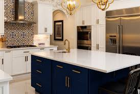 do kitchen cabinets go on sale at home depot 4 reasons to jump on the navy cabinet kitchen trend nebs