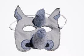 halloween party favors adults rhino felt mask animal mask animal birthday party favors