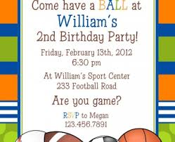 sports birthday invitations sports birthday invitations completed