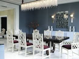 ceiling lights white chandelier dining room above dining table