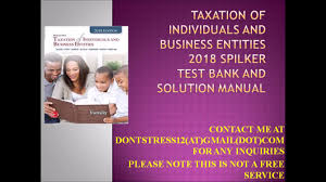 mcgraw taxation of individuals and business entities 2018 spilker