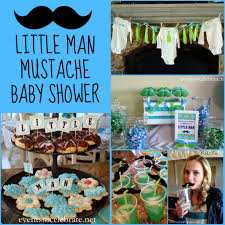 little man mustache baby shower events to celebrate baby