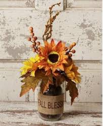 Vase Of Sunflowers Glass Vase Of Fall Flowers