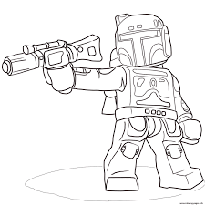 Lego Star Wars Boba Fett Coloring Pages Printable Coloring Pages Lego