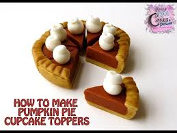 how to make pumpkin pie cupcake toppers thanksgiving