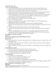 Manufacturing Supervisor Resume Manufacturing Supervisor Resume Cbshow Co
