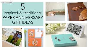 monogrammed anniversary gifts 5 traditional paper anniversary gift ideas for paper