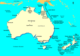 sydney australia map sydney australia on map major tourist attractions maps
