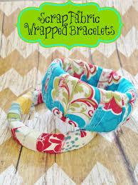 diy scrap fabric wrapped bracelets kid u0027s craft u0026 gift idea