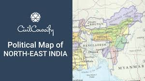 Map Of North East Poiltical Map Of North East India Indian Geography Mapping