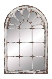 Mirror Wall Distressed Window Mirror Wall Decor Escape Through The Looking