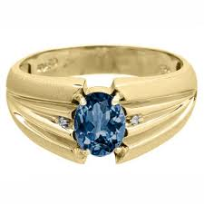 gold stone rings images Oval cut london topaz stone diamond men 39 s gold ring gemologica jpg