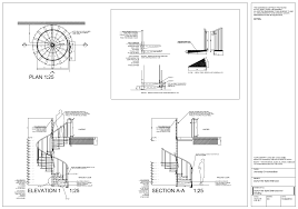 spiral staircase detail drawings autocad on behance