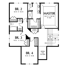 european style house plan 4 beds 2 50 baths 2100 sq ft plan 48 401