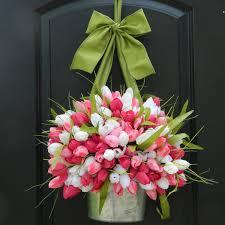 spring wreath tulip wreath pink wreath easter wreath caece 2017
