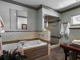 craftsman master bathroom with rain shower head by lucy butler