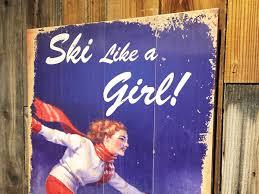 Madeline Leidy ski like a vintage sign on tahoe time