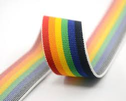 stretchy ribbon 1 5 38mm wide colored striped elastic band waistband elastic