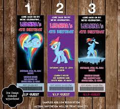 80 party invitations novel concept designs rainbow dash birthday party ticket invitation