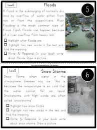 nonfiction leveled reading passages and questions natural