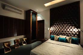 Architects And Interior Designers In Hyderabad Modern Master Bedroom With Tufted Headboard Designed By Aamir