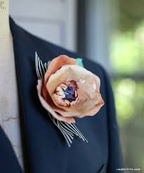 how to make corsages and boutonnieres paper flower diy corsage and boutonnière tutorial lia griffith