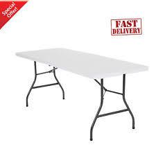cosco 6 centerfold table mainstays 6 foot centerfold table white folding portable ebay