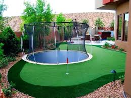 Backyard Play Area Ideas Backyard Play Area Ideas In Ground Trampoline Are Safer Way To