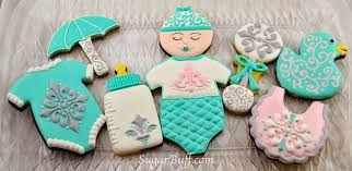 baby shower cookies damask baby shower cookies sugar buff bake shop