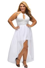 lalagen women u0027s plus size halter white lace wedding party dress