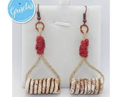 jute earrings jute earrings etsy