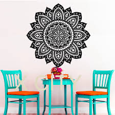 Home Gym Studio Design Aliexpress Com Buy Wall Decals Buddha Yoga Mandala Pattern Oum