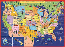 us map puzzle eeboo united states usa map puzzle for 20 pieces