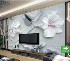 Wall Murals 3d Embossed Stereo Warm Romantic Floral Murals Tv Wall Mural 3d