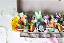 ideas for easter baskets for adults a unique easter basket idea easter candy cartons painted confetti
