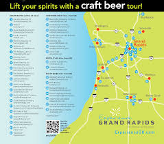 Road Map Of Michigan A Craft Brewery Tour Map For Grand Rapids Travel Grand Rapids