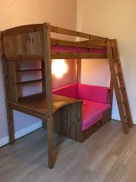 High Sleeper Beds With Sofa by Pine High Sleeper A Desk Underneath And Couch Sofa Bed With Pink