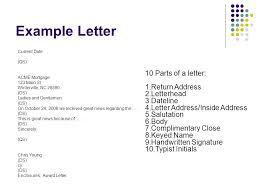 Business Letter Return Address exle of inside address exle of inside address in business