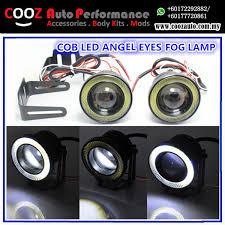 3 inch fog light kit 3 0 3 inch projector led fog lights with cob led halo angel eyes rings