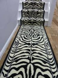 Zebra Runner Rug Zebra Print Animal Print Stair Runner Home Ideas Pinterest