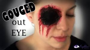 missing eye halloween gouged eye makeup tutorial by