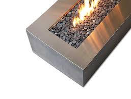 Firepit Top Robata Linear Outdoor Firepit Feature Stainless Steel Cover