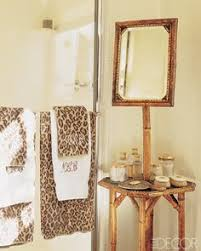 Cheetah Print Bathroom by Leopard Print Wallpaper U0026 Mirrored Drawer Unit Love Love Love