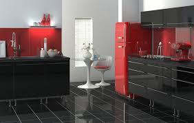 peculiar red kitchen in grey red kitchen ideas effective on grey