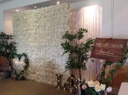 Fairy Light Wall by Flower Wall Backdrops Fairy Lights Hearts Flowers Beautiful